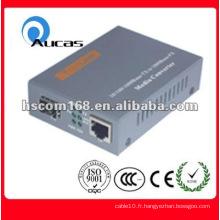 Convertisseur de 10 / 100M de fibre optique avec support standard 100Base-FX