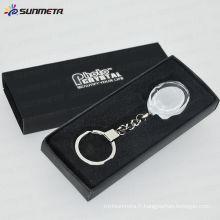 Keychain de cristal sublimation BSK04