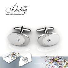 Joias de destino cristal de Swarovski Round perfeito botões de punho