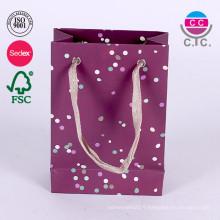 Nouveau sac de papier commercial de luxe pour le tissu
