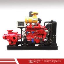 Пожарный насос высокого давления с горизонтальным многоступенчатым дизельным двигателем