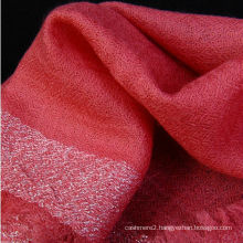 SWC030 Diamond Structure Wholesale Gold thread fringe Pure Cashmere Shawl