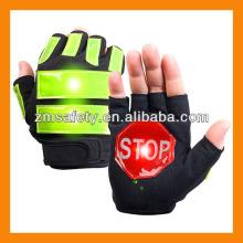 High Reflective LED Traffic Police Gloves