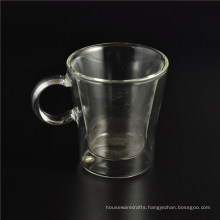 China Manufacturer Heat-Resistant Borosilicate Double Wall Glass Cup