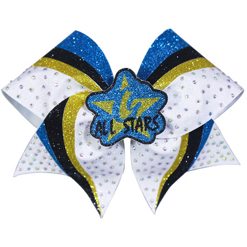 All Stars Stripes Cheer Bows