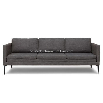 Triplo Meteorite Grey Fabric Sofa