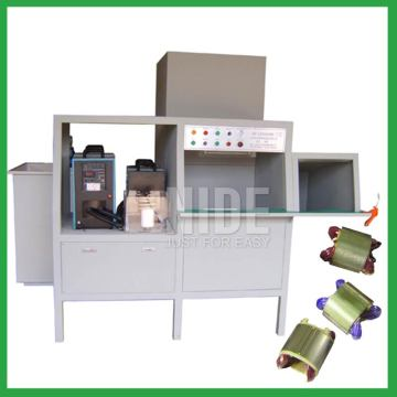 Stator coil powder coating machine