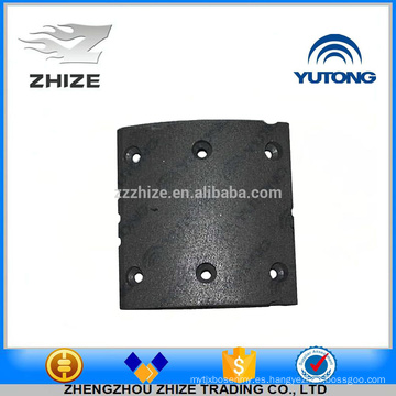 China supplier bus spare part 3502-00290 Rear brake friction lining for Yutong