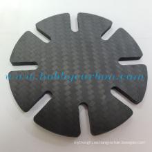 Cartera duradera minimalista con borde de fibra de carbono de 2,0 mm