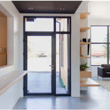 Lingyin Construction Materials Ltd aluminium Casement door dengan tingkap kaca tetap