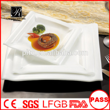 Novo quadrado Jantar pratos para restaurante com excelente preço salada placa