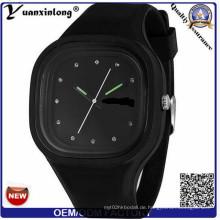 Yxl-992 Großhandels-Genf-Silikon-Uhr-Mann-Frauen-Kursteilnehmer-Art- und Weisekleid-Quarz-Handgelenk-Gelee-Uhr