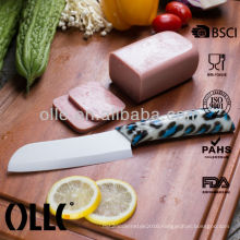 Japanese Style Ceramic Watertransfer Printing Santoku Knife