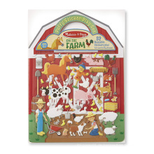 Benutzerdefinierte Creative Farm wiederverwendbare Kinder Puffy Aufkleber Activity Book Set