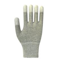 Gant de sécurité en polyester polyester poli gris