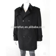 Nouvelle mode 100% pur manteau de laine de cachemire pour les hommes