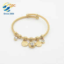 Factory price high quality luxury permanent stainless steel jewelry gold bracelet