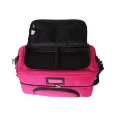 Nylon-Make-up Case Storage Kosmetiktasche mit Trays Pink Beauty Make-up Verpackung