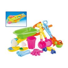 Diversão crianças praia brinquedo plástico areia jogo set (h1404213)