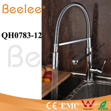 Kitchen Faucet Two Heads Flow Changeable Jet Pull Down Spring Kitchen Faucet