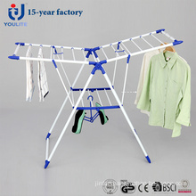Powder Coated Metal Foldable Clothes Drying Rack