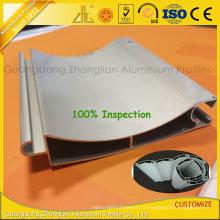 Perfil de alumínio anodizado do obturador do rolo para o projeto da porta de rolamento