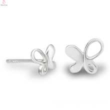 Lady Fashion 925 Sterling Silver Butterfly Charm Earring Stud