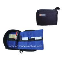 Pequeña bolsa de herramientas plegable con cierre de cremallera