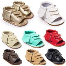 Baby Girls Summer Sneakers Mode Tassels Mocassins Sole Sole Sandales