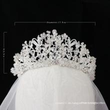 2020 neue Art Hochzeit Braut Tiara Kristall Krone große Festzug Krone