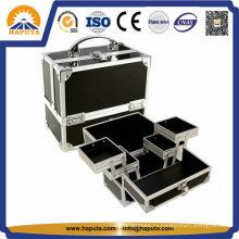 Горячие продажи косметической коробки красоты с алюминиевой рамой (HB-1203)
