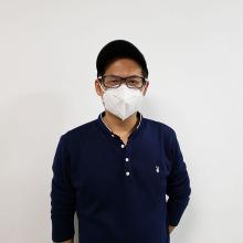 Máscara protectora descartável de dobramento médica do respirador KN95