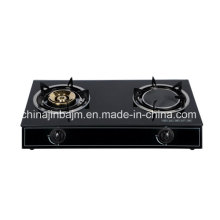 2 Burners Tempered Glass Top Brass 115 & Infrared 160 Gas Cooker/Gas Stove