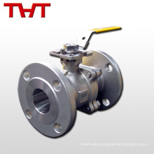 wcb dn40 pn16 flanged hand lever vacuum ball valve