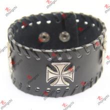 Couro pulseira rebite decoração para unisex cool bracelete (lb15120402)