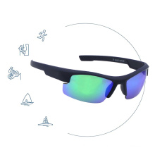 Classic Trendy Plastic Windproof Eye Protection Sports Cycling Sunglasses Sun Glasses With Case