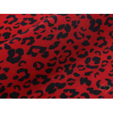 75D Poly Woven Memory Fabric With Leopard Print