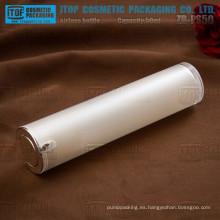 ZB-PS50 50ml personalizables lindo buena mano sensación 50ml perla alto brillo blanco botella privada de aire
