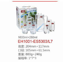 Juego de jarra de agua de vidrio Dg-1380