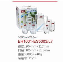 Jogo de jarro de água de vidro Dg-1380