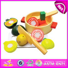 2014 New Wooden Cutting Toy for Kids, Role Play Toy Cutting Toy for Children, Kitchen Pretend Toy Cutting Toy for Baby W10b082