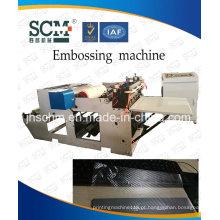 Máquina de Embosser do cartão do PVC, máquina plástica do vinco da película plástica