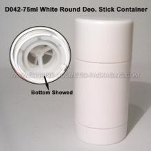 75g blanc rond forme Deo. Conteneur de bâton
