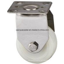 50mm Stainless Steel Light Duty Nylon / PP Caster, Rigid Caster