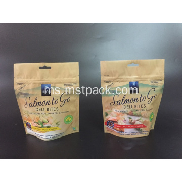 Kraft Paper Resealable Stand Up Pouches