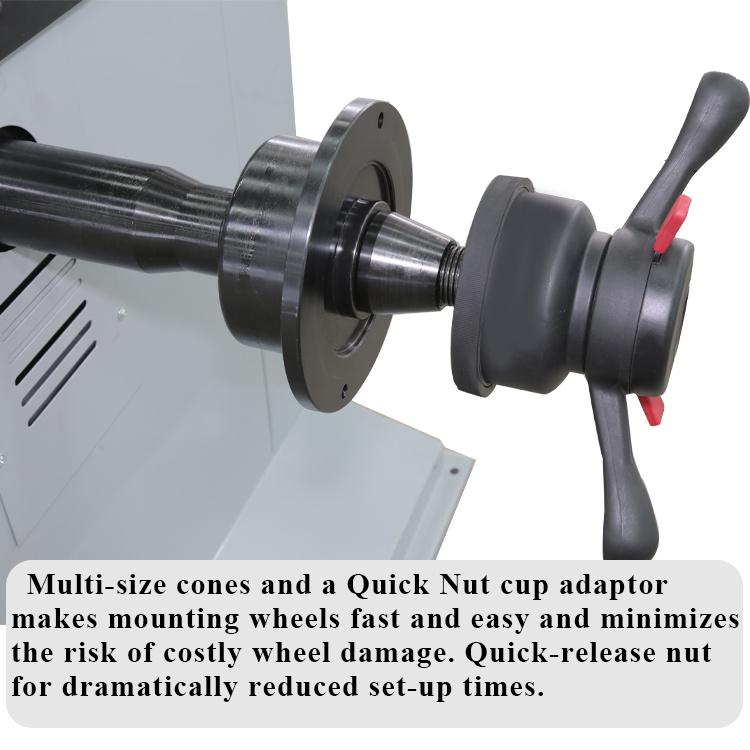 wheel balancer locking nut