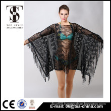 Top selling products 2016 Summer Ladies Tassels lace beach Cardigan