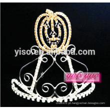 Simples tiara de metal de abobora de cristal