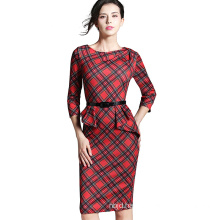 Half Sleeve Dress Ladies Office Formal Dress