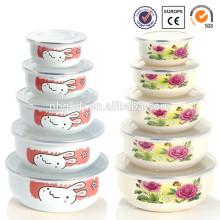 enamelware supreme dog bowl with PE lid